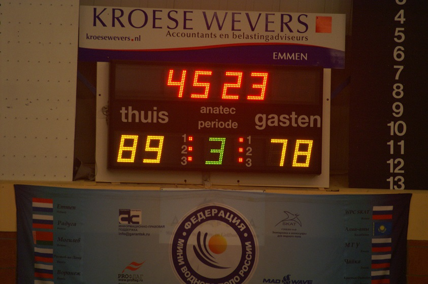 Elektronisch waterpolo scorebord